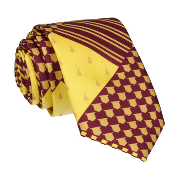 Red Medieval Banner House Tie