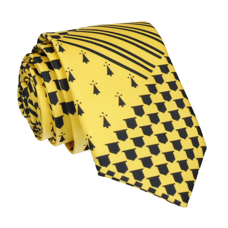 Yellow Medieval Banner House Tie