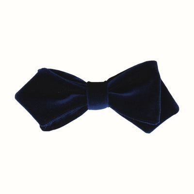 Velvet in Navy Blue Bow Tie