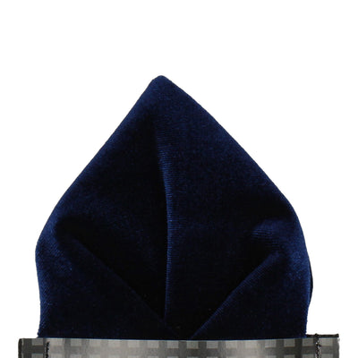 Navy Blue Velvet Pocket Square