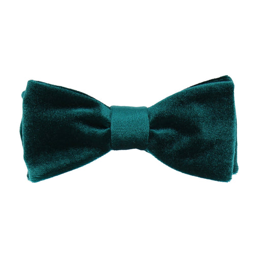 Velvet in Teal Bow Tie
