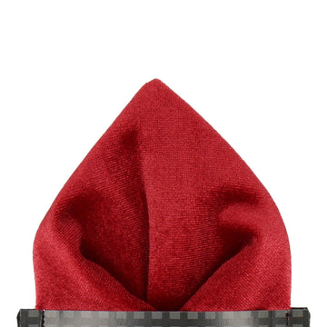 Ruby Red Velvet Pocket Square