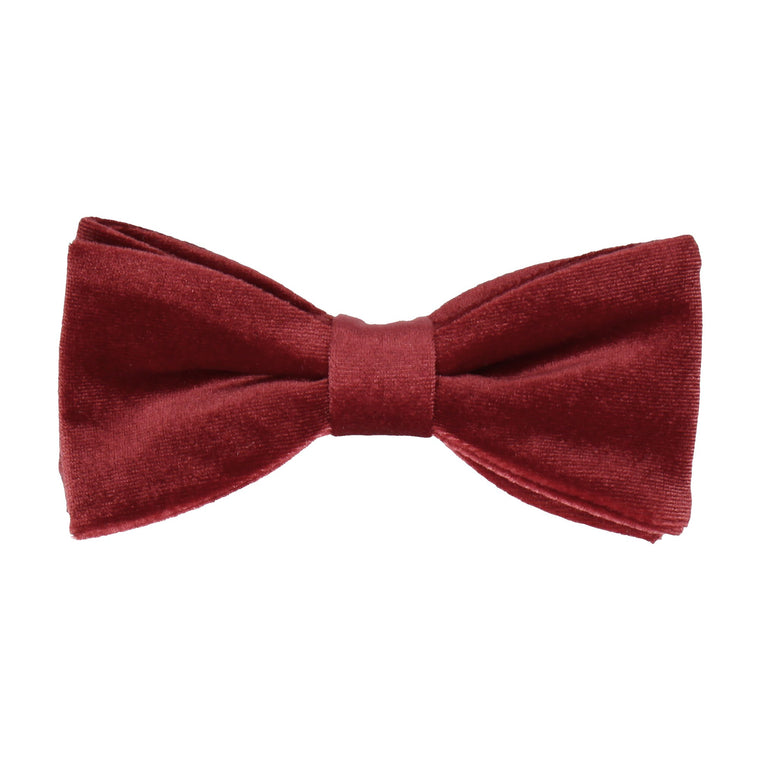 Ruby Red Velvet Bow Tie