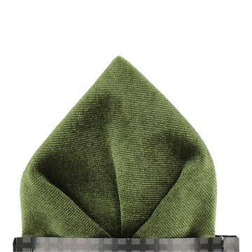 Velvet in Cypress Green Pocket Square