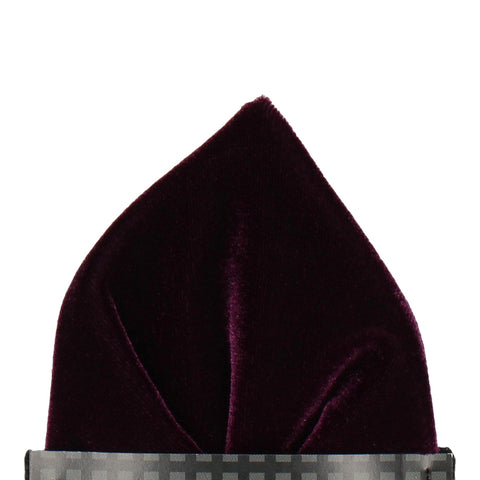 Velvet in Blackcurrant Pocket Square