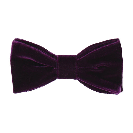 Velvet in Blackcurrant Bow Tie