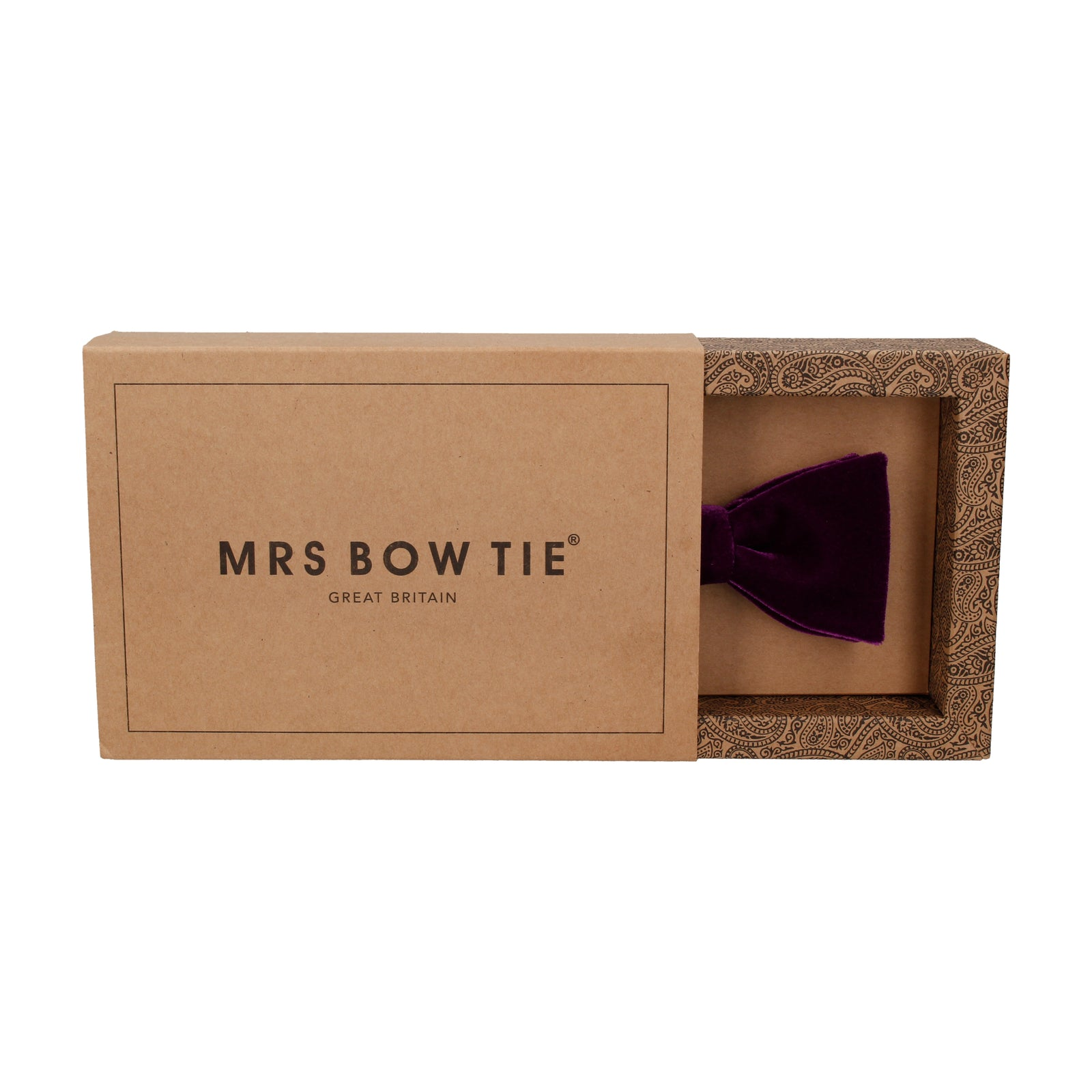 Wine Red Velvet Bow Tie