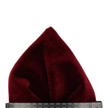 Wine Velvet Pocket Square