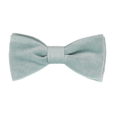 Duck Egg Blue Velvet Bow Tie