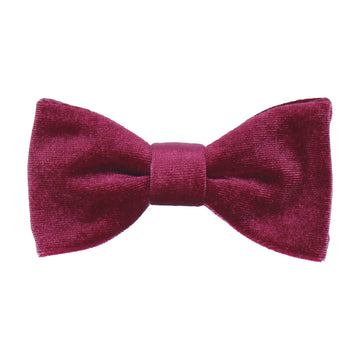 Mulberry Red Velvet Bow Tie