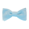Velvet in Sky Blue Bow Tie