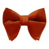 Copper Orange Velvet Large Evening Bow Tie