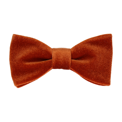 Copper Orange Velvet Bow Tie