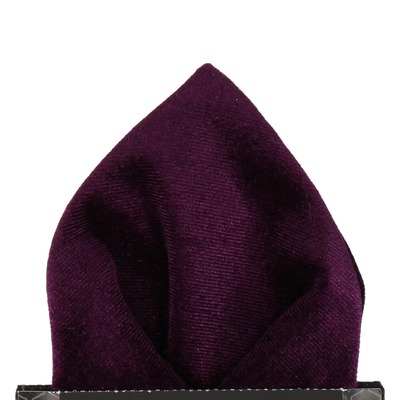 Royal Purple Velvet Pocket Square