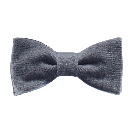 Velvet in Silver Blue Bow Tie