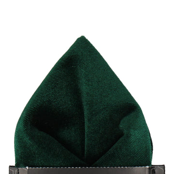 Velvet in Forest Green Pocket Square