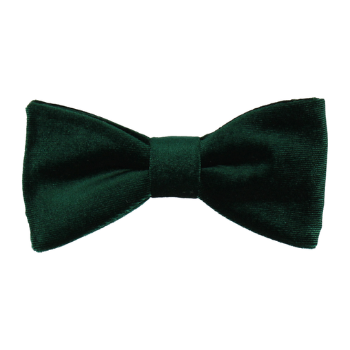 Velvet Forest Green Bow Tie