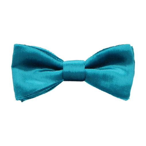 Silk Velvet in Teal Bow Tie