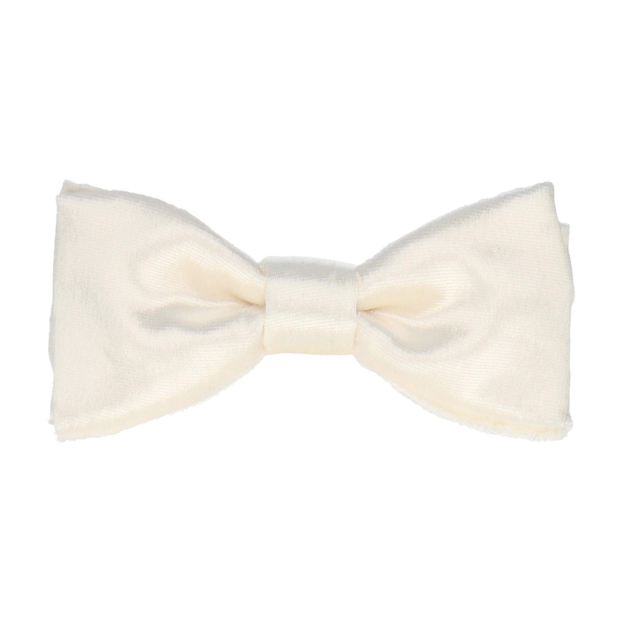 Silk Velvet in Ivory Bow Tie