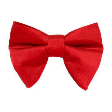 Red Velvet Large Evening Bow Tie