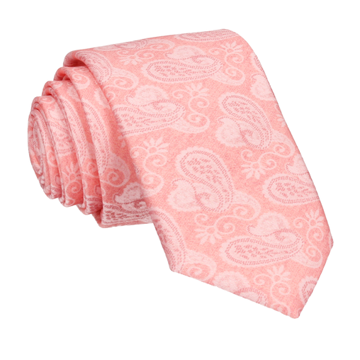 Shelley in Soft Coral Tie