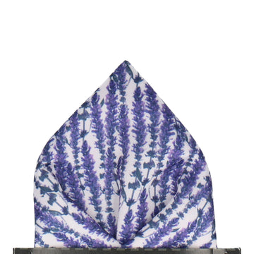 Lavender Meadow Pocket Square