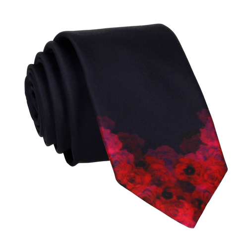 Floral Edge in Roses Tie