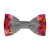 Floral Edge in Pin Stripe Bow Tie