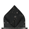 Celestial in Black Pocket Square