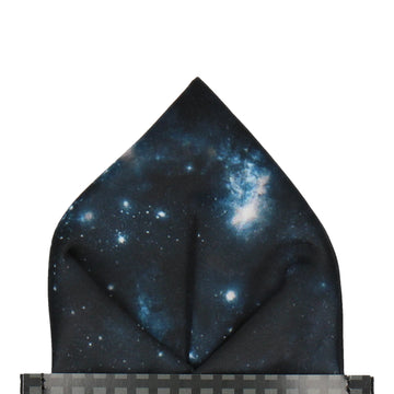 Celestial Galaxy Navy Pocket Square