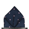 Polka Hearts in Navy & Pink Pocket Square