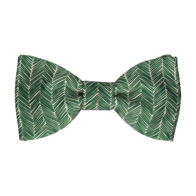 Forest Green Boho Chevron Bow Tie
