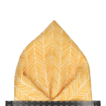 Yellow Boho Chevron Pocket Square