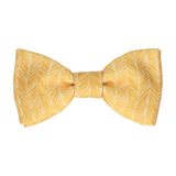 Yellow Boho Chevron Bow Tie