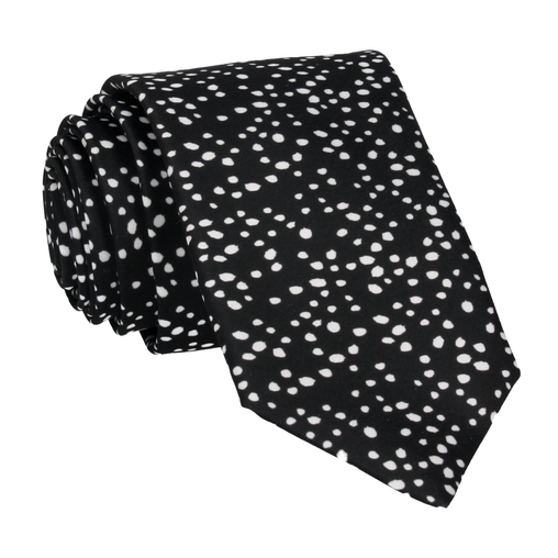 Irregular Dots in Black Tie