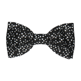 Irregular Dots in Black Bow Tie