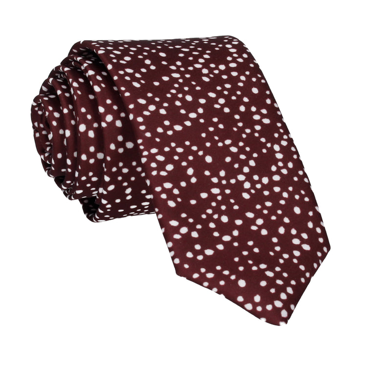 Irregular Dots in Maroon Tie