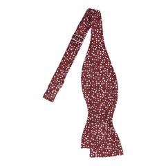 Irregular Dots in Maroon Dark Red Bow Tie
