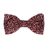 Irregular Dots in Maroon Bow Tie