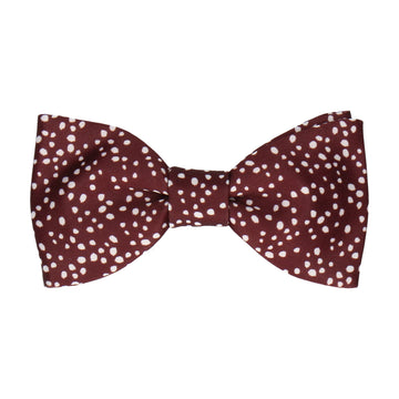 Scattered White Dots Maroon Red Bow Tie