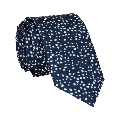 Irregular Dots in Navy Blue Tie