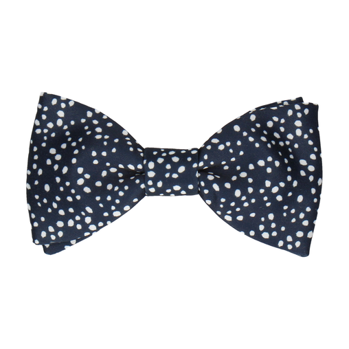 Irregular Dots in Navy Bow Tie