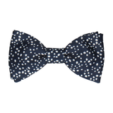 Irregular Dots in Navy Blue Bow Tie