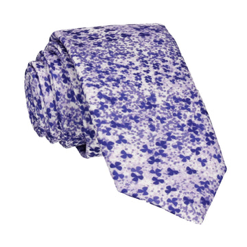 Purple Cherry Blossom Flower Tie