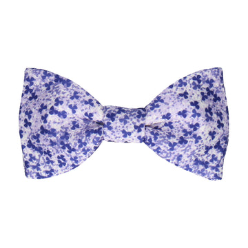 Purple Cherry Blossom Flower Bow Tie