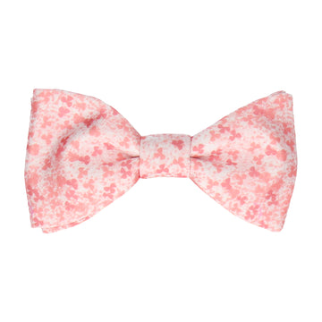Peach Cherry Blossom Flower Bow Tie