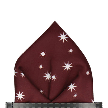 Pullman in Maroon Pocket Square (Outlet)