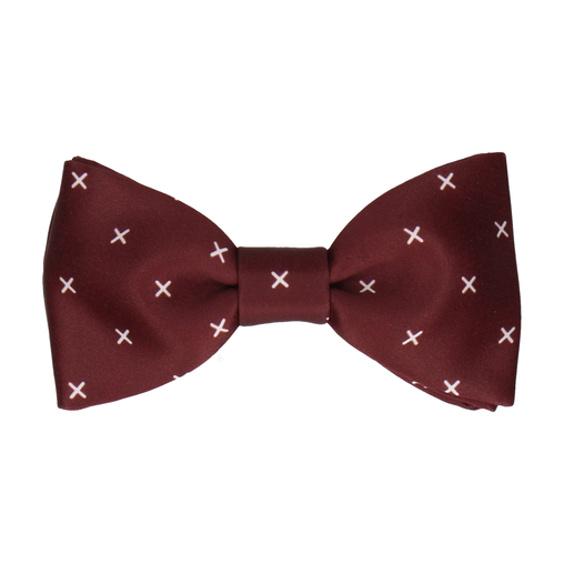 Cross in Maroon Bow Tie
