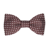 Cross Stitch in Maroon Bow Tie