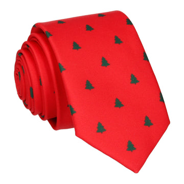 Polka Christmas Tree in Festive Red Tie